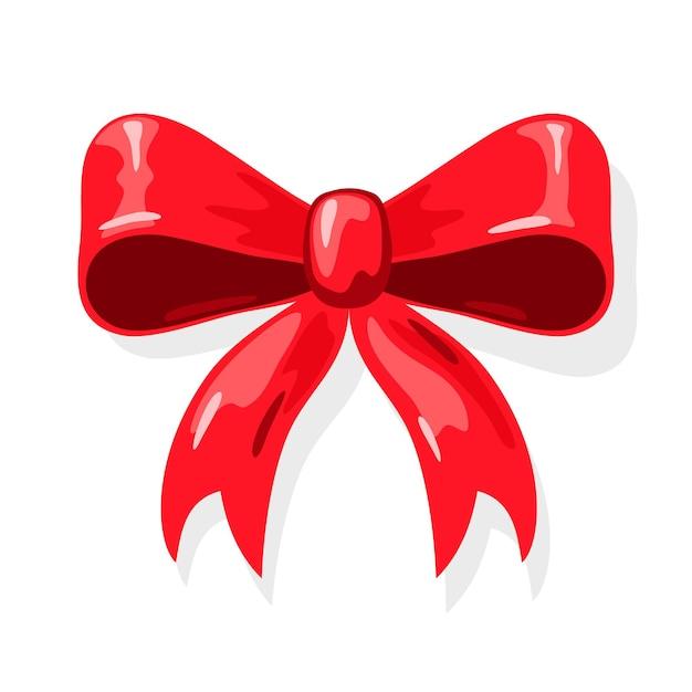 ギフトプレゼントボックス、ホリデーパッケージを包むための赤いリボンの弓。 Premiumベクター