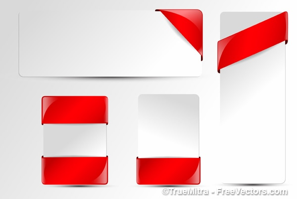 red ribbon pack Free Vector