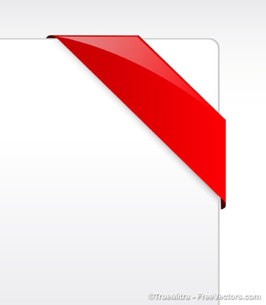 Red ribbon vector banner Free Vector