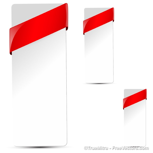 red ribbon Free Vector