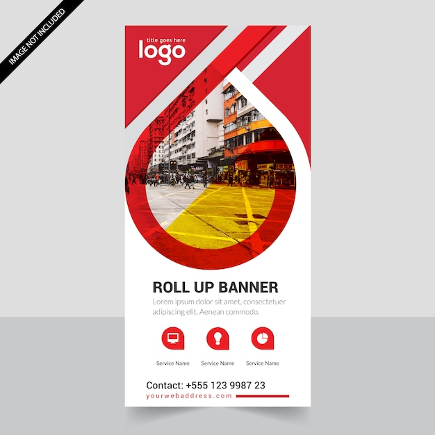 red roll up business brochure flyer banner design vertical template, Presentation Abstract Template, Presentation templates