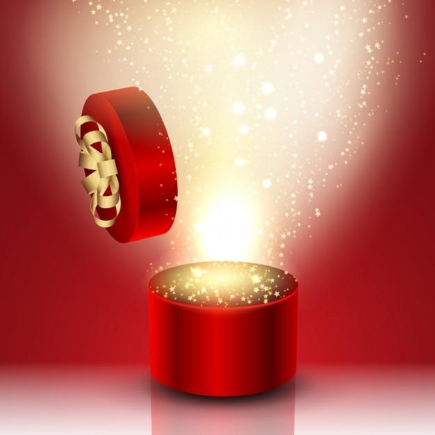 Red Round Birthday Present