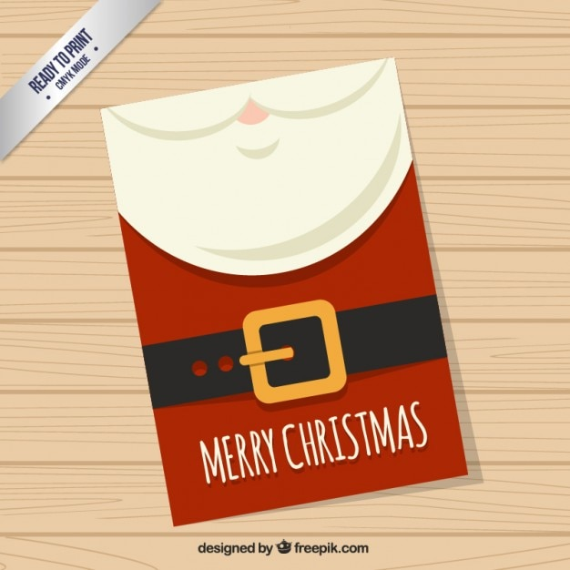 Red santa claus card Free Vector