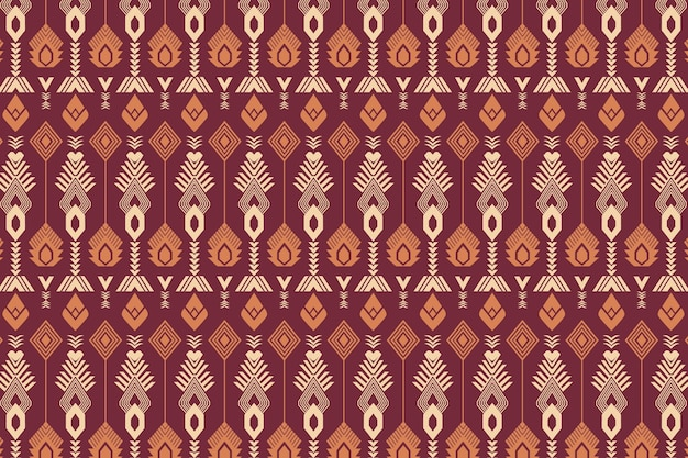 Red seamless songket pattern template Premium Vector
