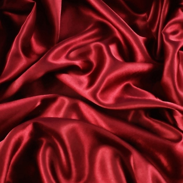 Red silk background Free Vector