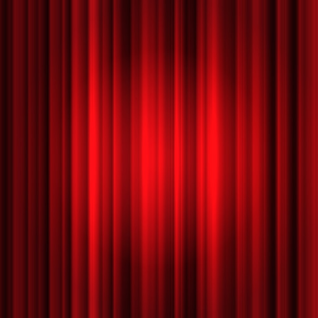 Red silk curtain background Free Vector