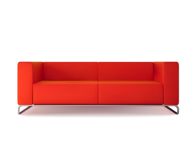 red sofa isolated free vector - Red Sofa