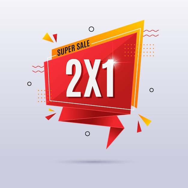 Red special offer banner Free Vector