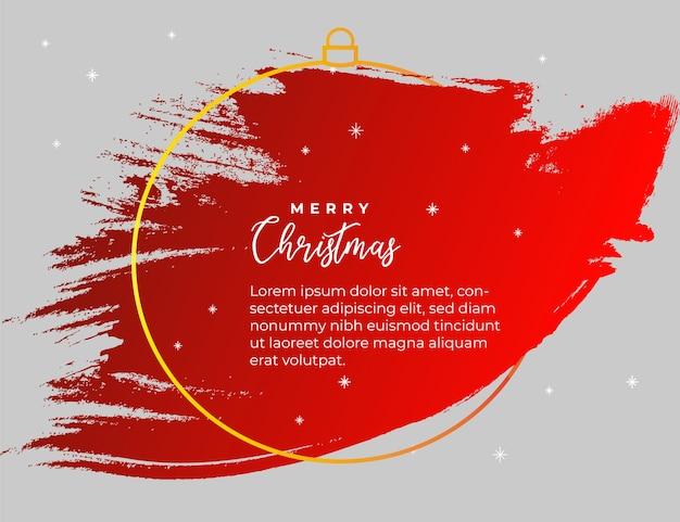 クリスマスの赤いスプラッシュバナー 無料ベクター