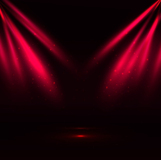 Red Spotlight Background Vector Free Download