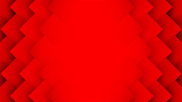 Red square geometric overlap background Premium Vector