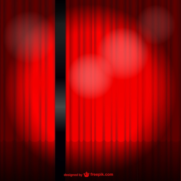 Red stage curtain vector free download for Theatre curtains psd