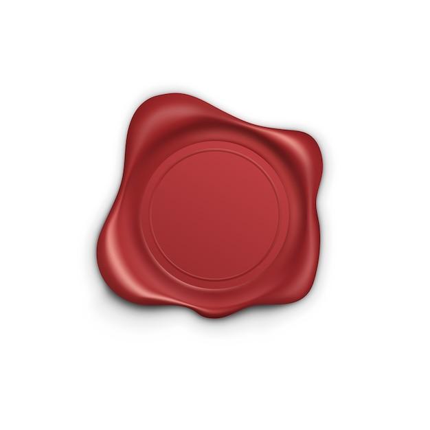 Red stamp. wax seal. retro label. quality garantee label,  illustration Premium Vector