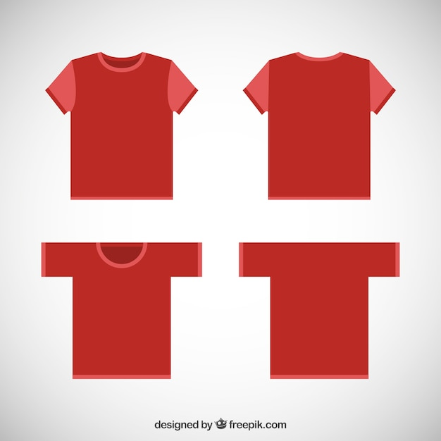 Red t shirts Free Vector