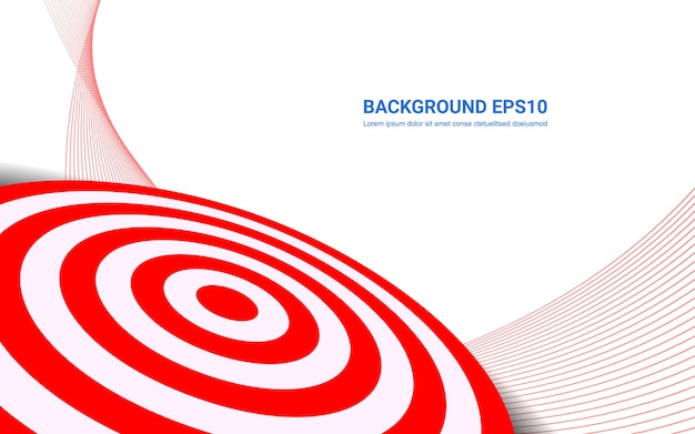 Red target board on white background. shooting target success solutions concept. Premium Vector