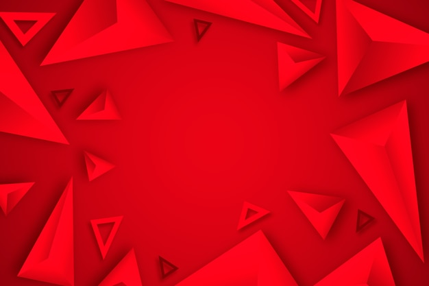 Red triangle background 3d design Premium Vector