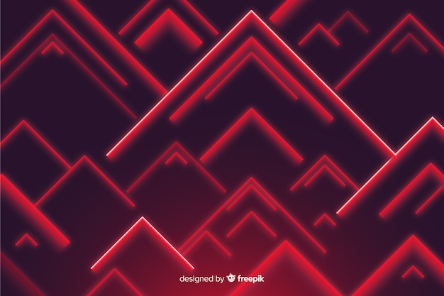 Red triangle shapes low poly background Free Vector