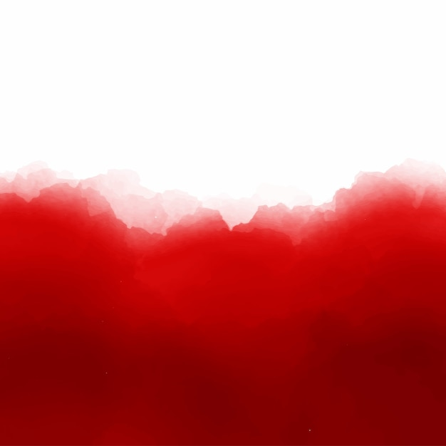 Red watercolor background with space Free Vector