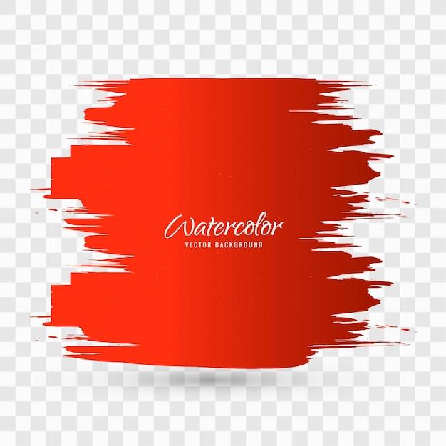 Brush Design For Wall : Red watercolor brush stroke background design vector
