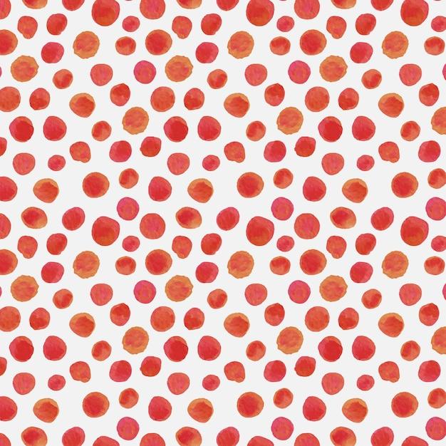 赤い水彩ドッティシームレスパターン 無料ベクター
