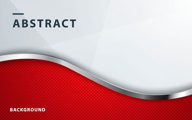 Red wavy dimension abstract background Premium Vector