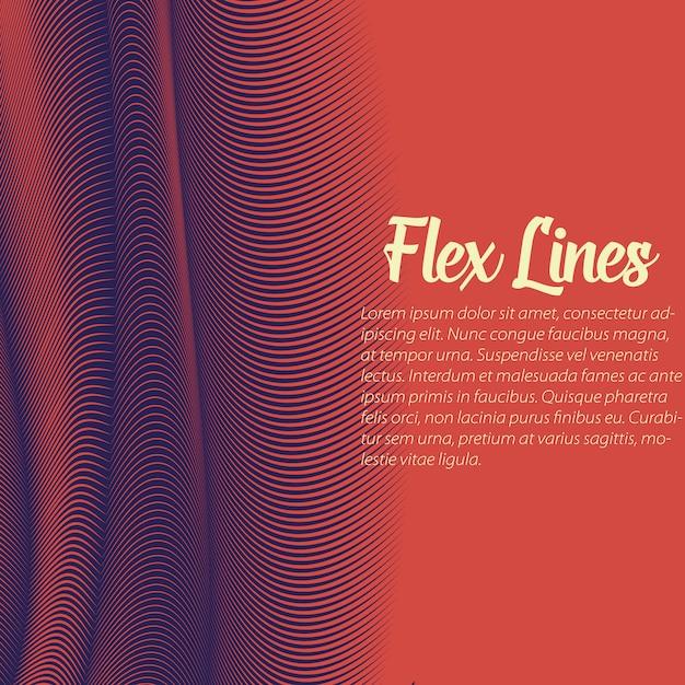 Modello di sfondo rosso linee ondulate Vettore gratuito