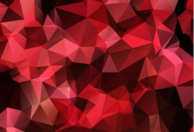 Red white polygonal mosaic background Premium Vector