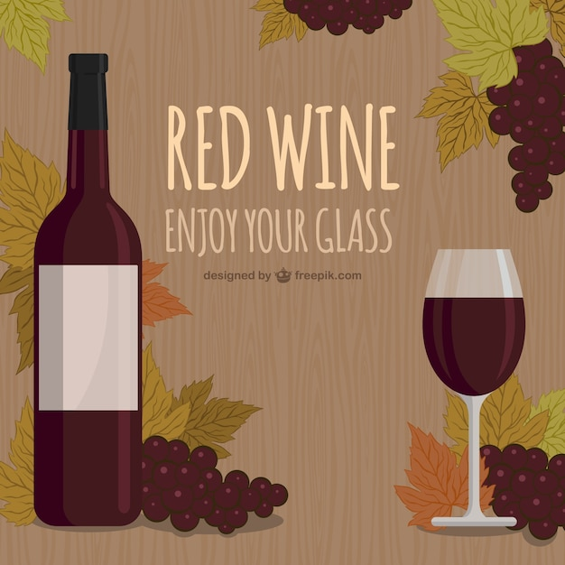 Red wine, enjoy your glass