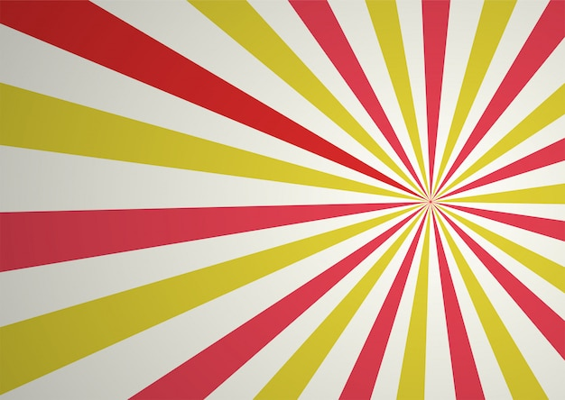 Red and yellow abstract comic cartoon ray and sunlight background. Premium Vector