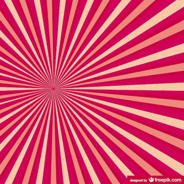Red and yellow sunburst Free Vector