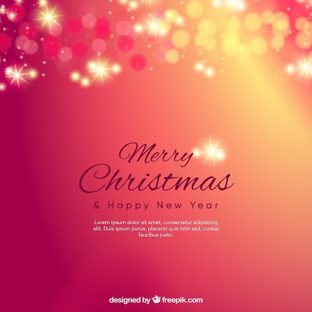 Reddish bokeh merry christmas background