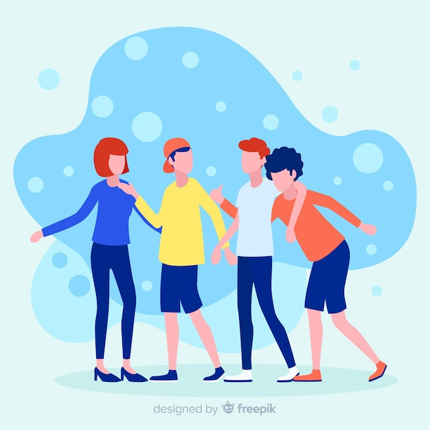 Refer a friend illustration concept Free Vector