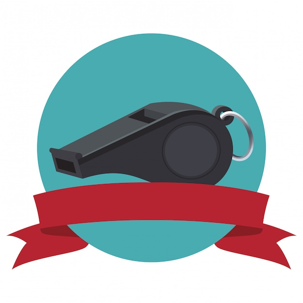 Referee whistle icon Premium Vector