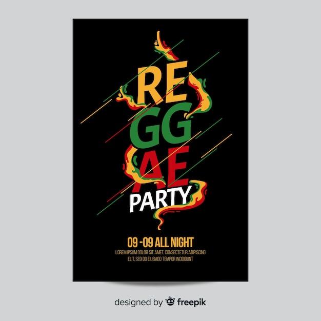 Reggae party flyer Free Vector