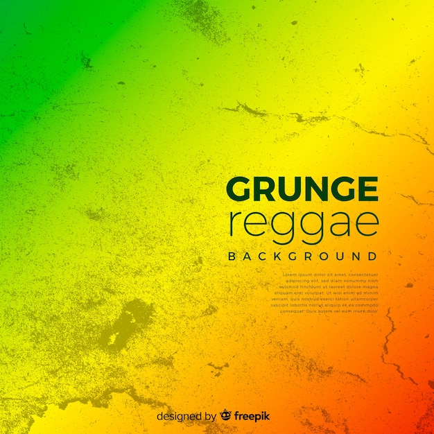 Reggae-style background Free Vector