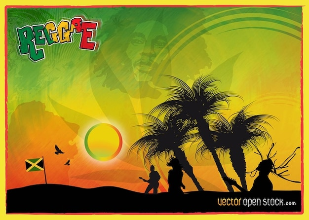 Reggae Vector Graphics Free Vector
