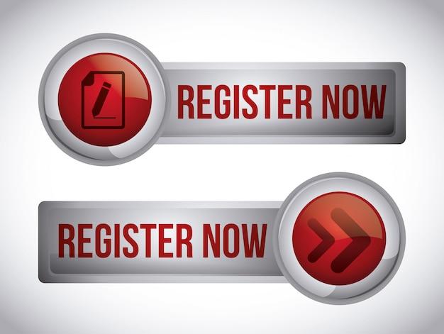 Register button design Premium Vector