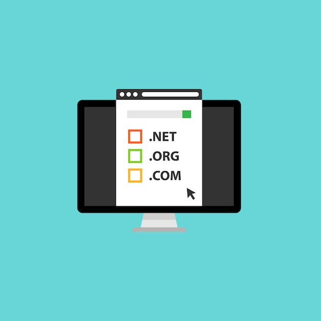 Registration & domain name concept Premium Vector