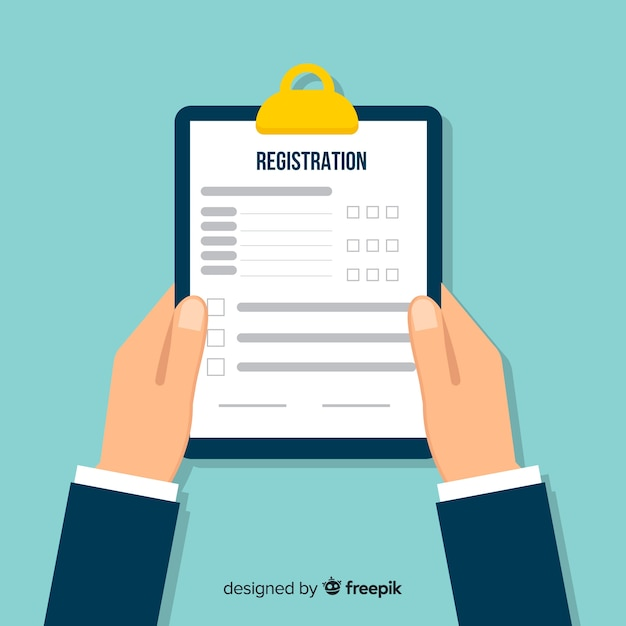 Registration form Free Vector