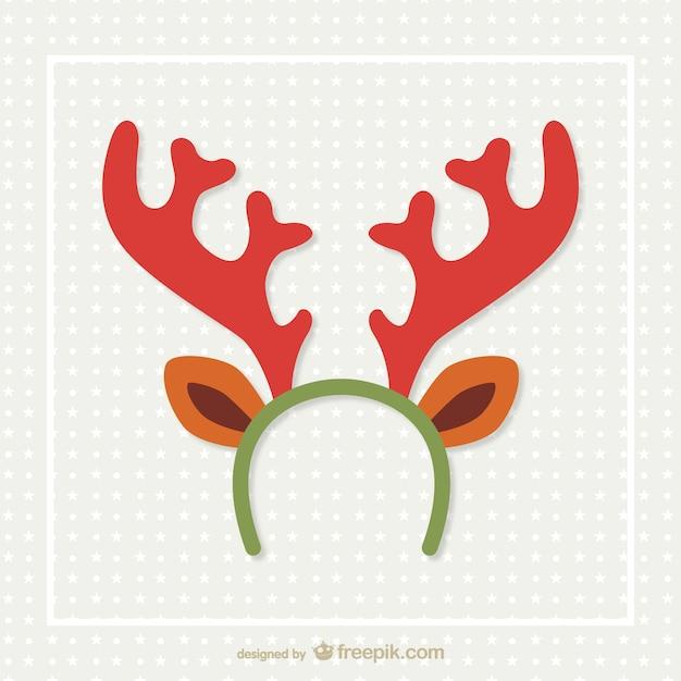 Reindeer horns vector Free Vector