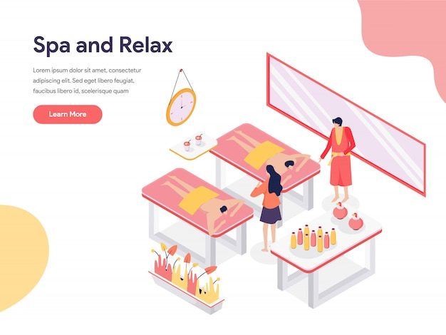 Relax and spa room illustration Premium Vector