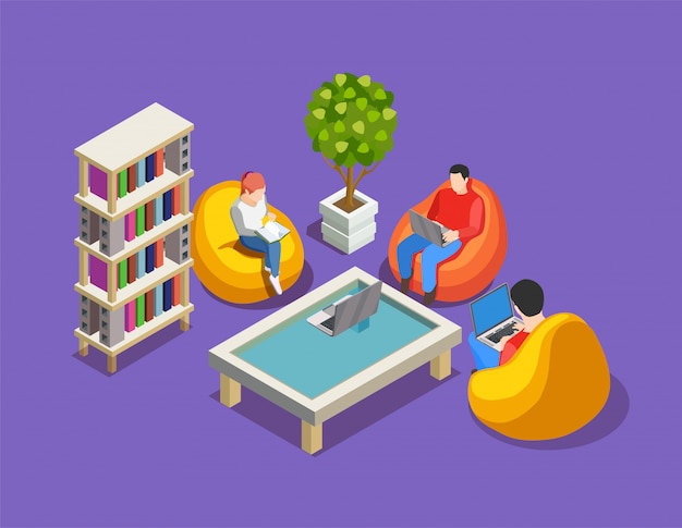 Relax at work composition Free Vector