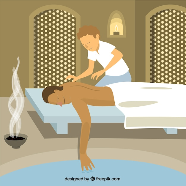 Relaxing massage illustration