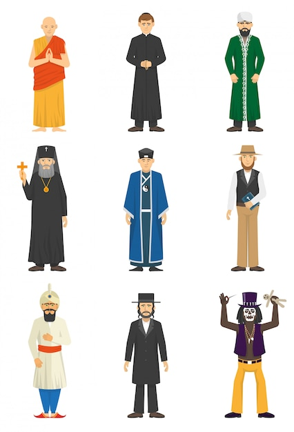 Religion confession people Free Vector