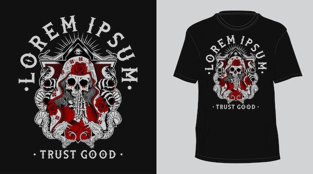 Religion skull  tshirt Premium Vector