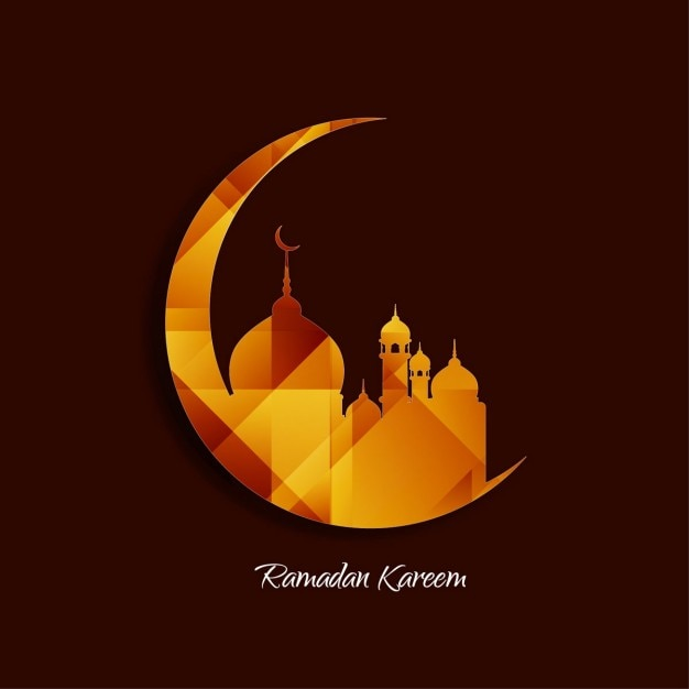 Religious islamic background Free Vector