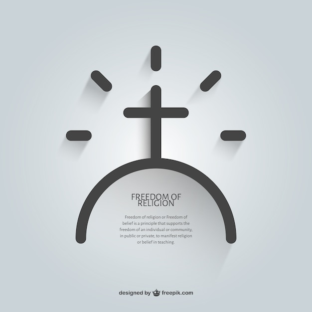 religious message of faith template vector free download