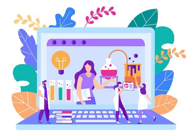 Remote teachers homework check vector illustration Premium Vector