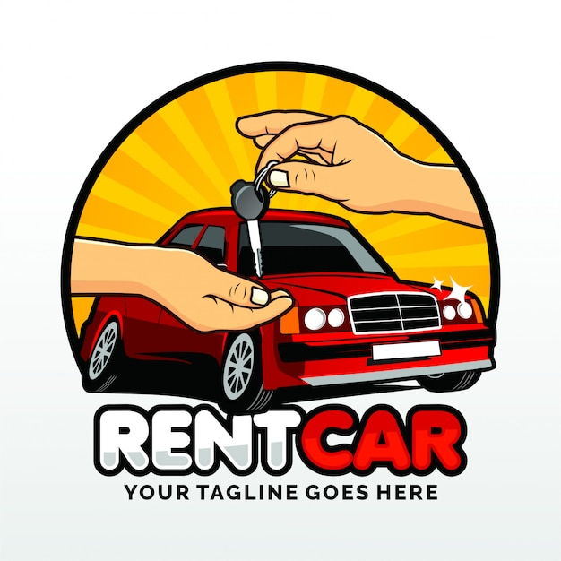 Rental car deal logo template design vector Premium Vector
