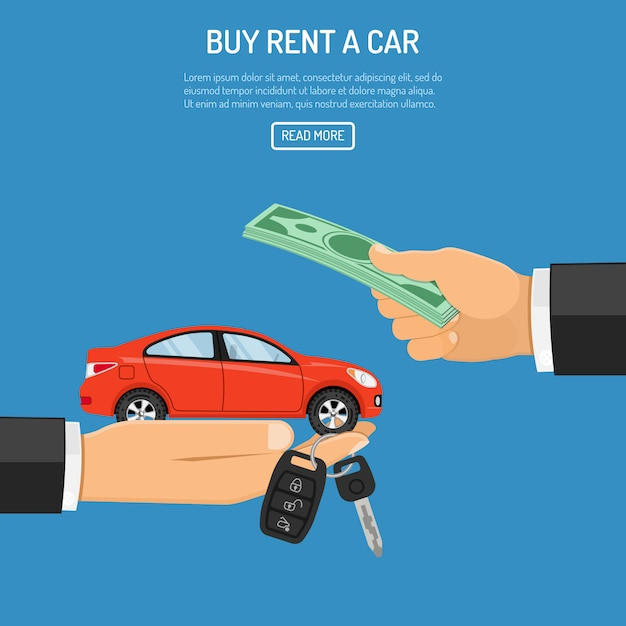 Rental car web template Premium Vector